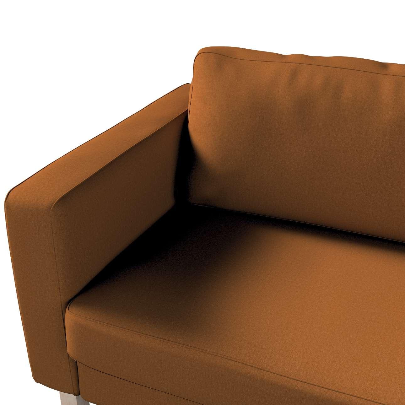 Pokrowiec na sofę Karlstad 3-osobową nierozkładaną, krótki w kolekcji Living, tkanina: 161-28