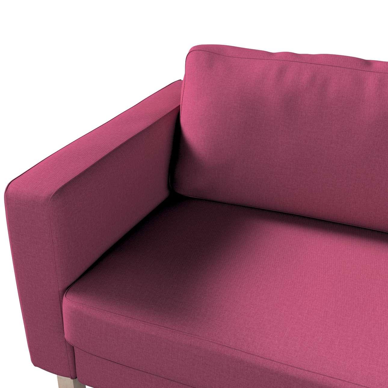 Pokrowiec na sofę Karlstad 3-osobową nierozkładaną, krótki w kolekcji Living, tkanina: 160-44