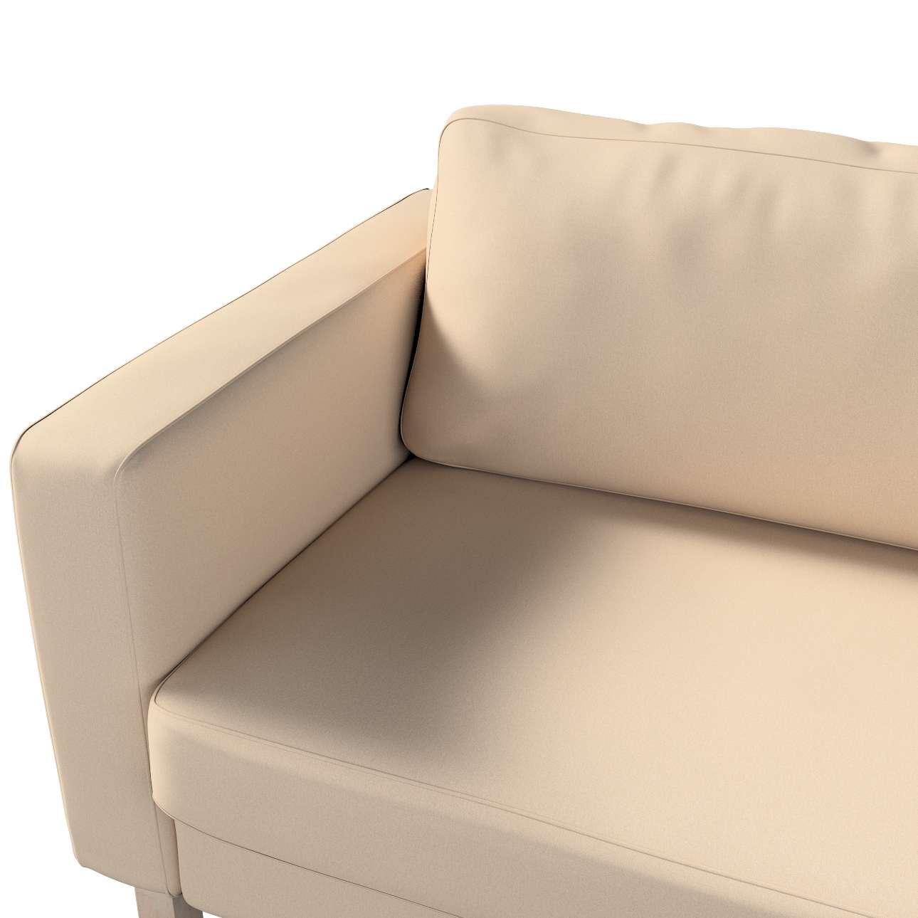 Pokrowiec na sofę Karlstad 3-osobową nierozkładaną, krótki w kolekcji Living, tkanina: 160-61