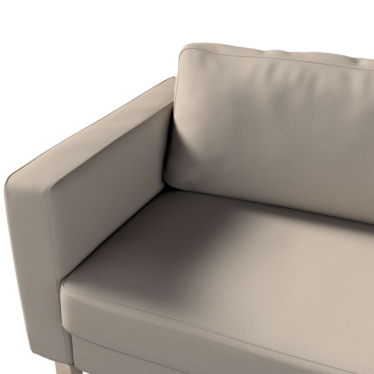 Pokrowiec na sofę Karlstad 3-osobową nierozkładaną, krótki w kolekcji Living, tkanina: 161-53