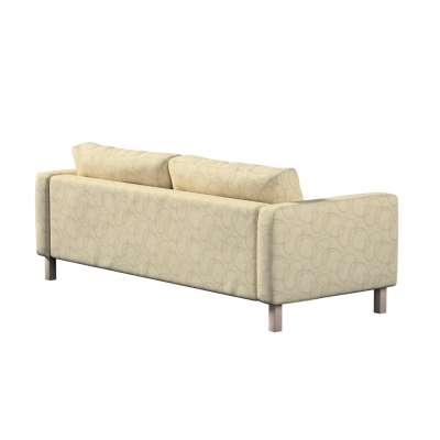 Pokrowiec na sofę Karlstad 3-osobową nierozkładaną, krótki w kolekcji Living, tkanina: 161-81
