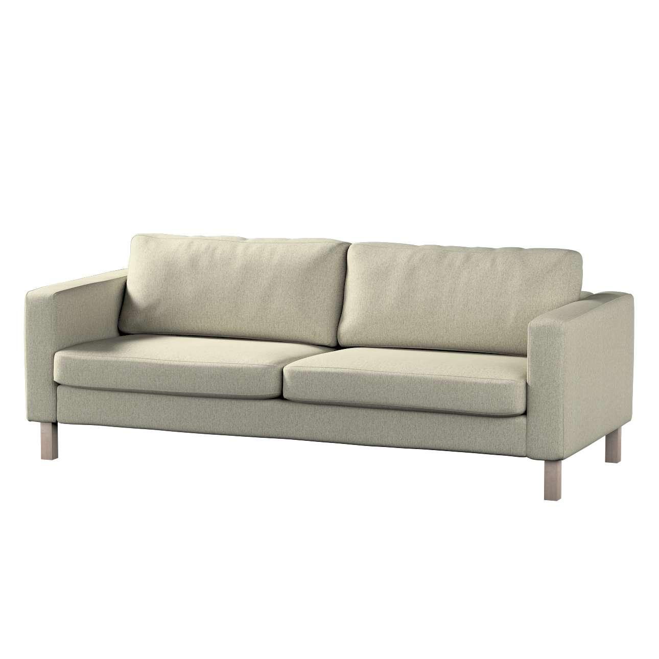 Pokrowiec na sofę Karlstad 3-osobową nierozkładaną, krótki w kolekcji Living, tkanina: 161-62
