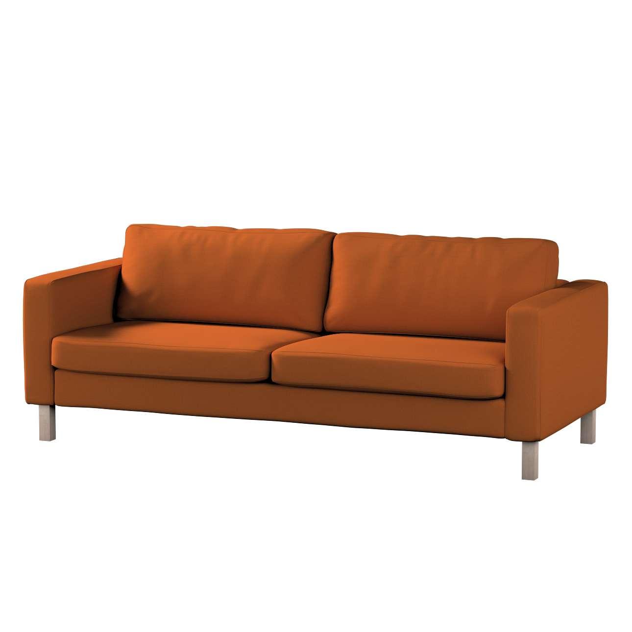 Pokrowiec na sofę Karlstad 3-osobową nierozkładaną, krótki w kolekcji Cotton Panama, tkanina: 702-42