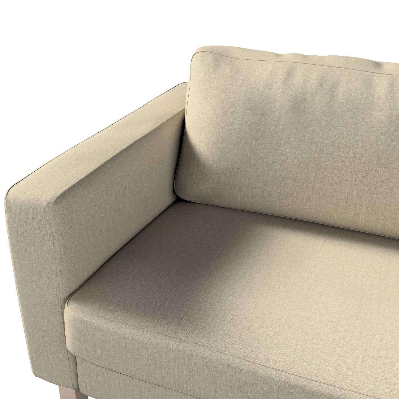 Pokrowiec na sofę Karlstad 3-osobową nierozkładaną, krótki w kolekcji City, tkanina: 704-80