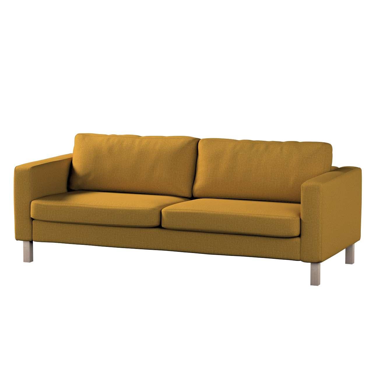 Pokrowiec na sofę Karlstad 3-osobową nierozkładaną, krótki w kolekcji City, tkanina: 704-82