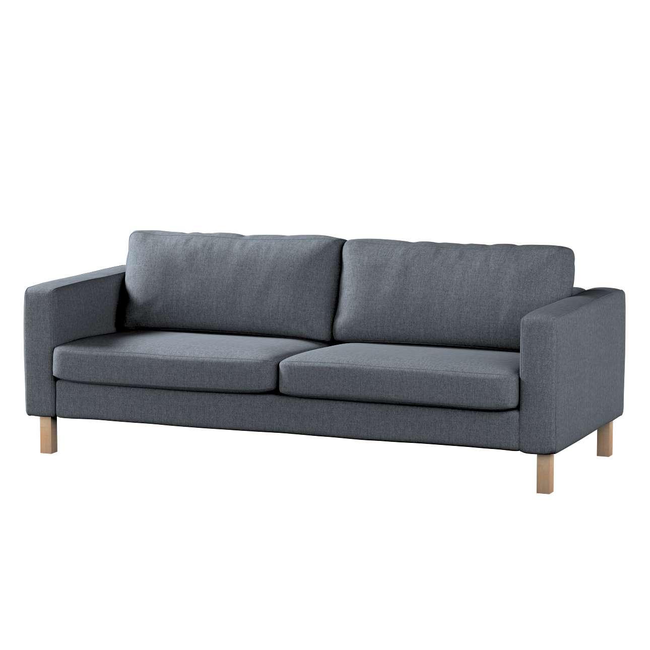 Pokrowiec na sofę Karlstad 3-osobową nierozkładaną, krótki w kolekcji City, tkanina: 704-86