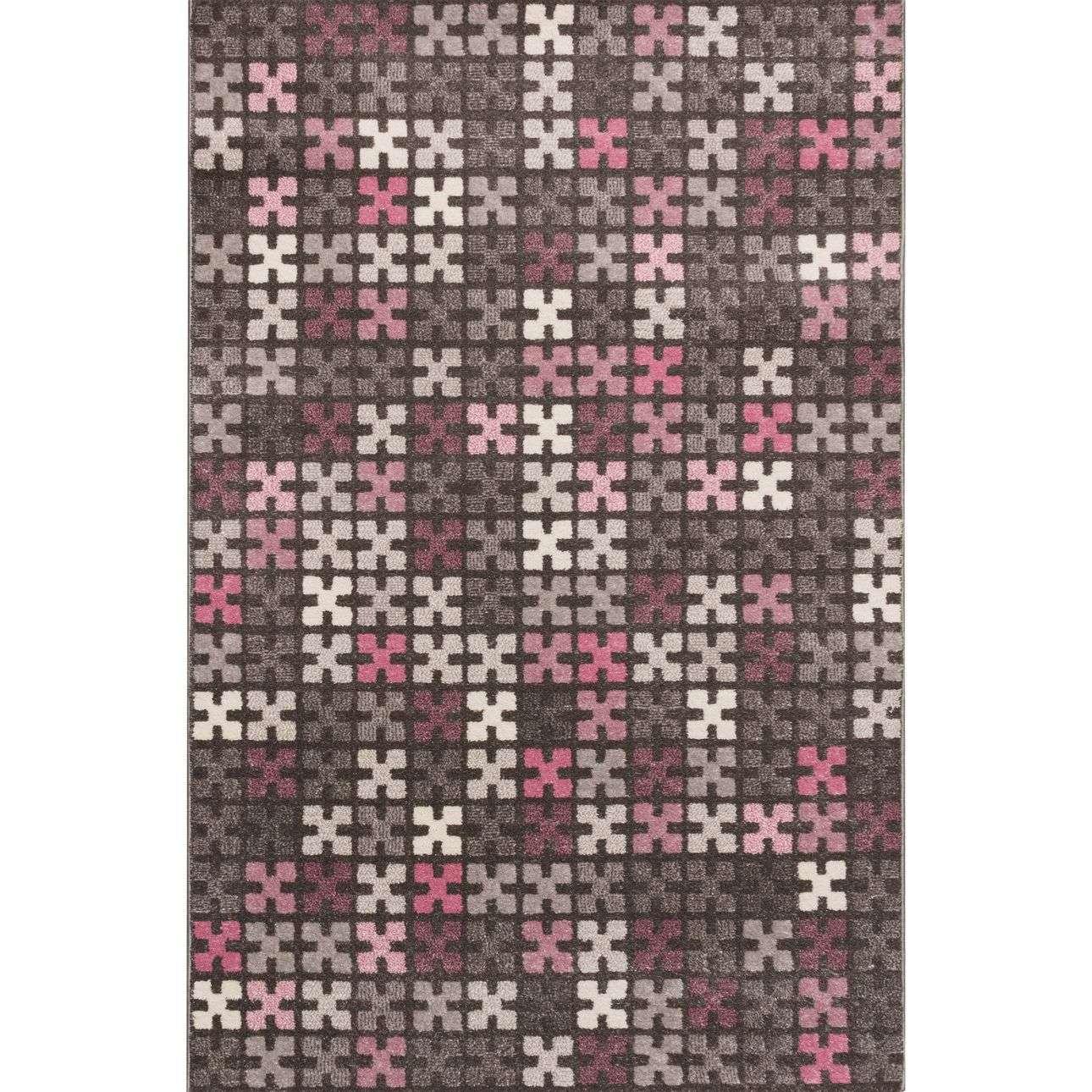 Koberec Modern Puzzle Charisma Rose-Frost Grey 135x190cm