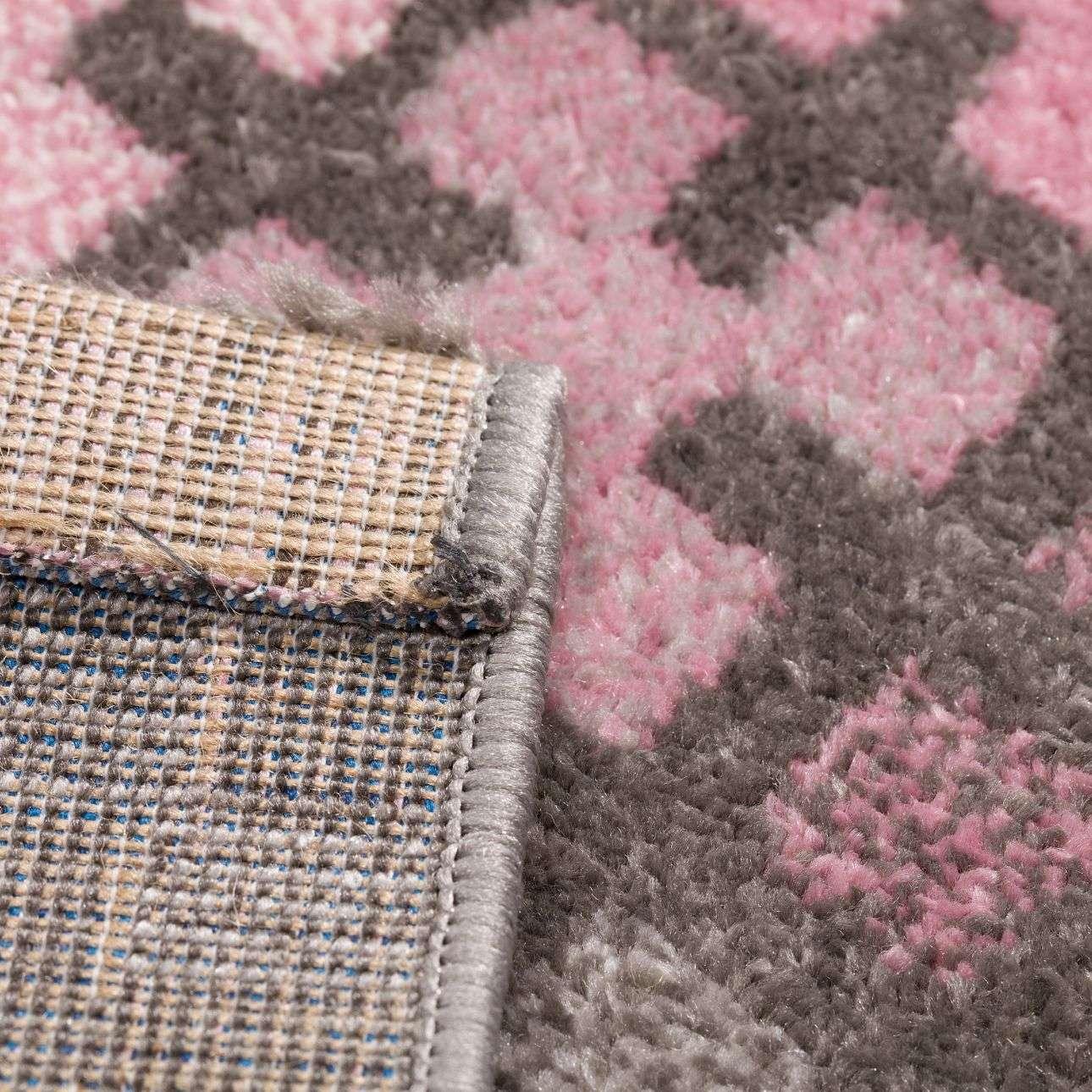 Teppich Modern Puzzle Charisma rose-frost grey 135x190cm