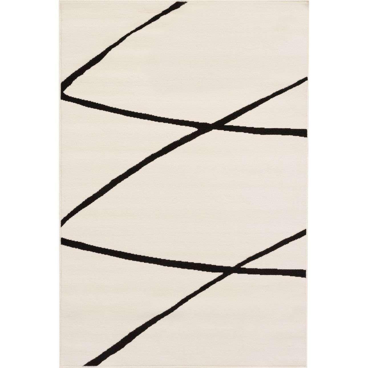Teppich Modern Lines cream-black 135x190cm