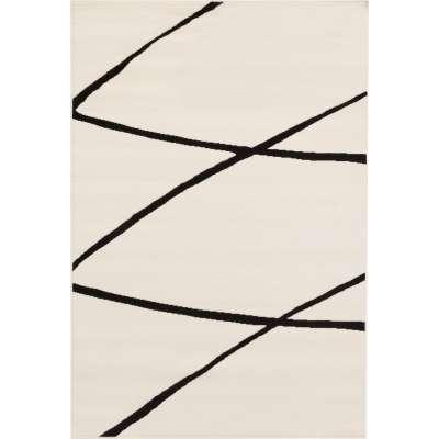Koberec Modern Lines Cream-black 135x190cm Koberce - Dekoria-home.cz
