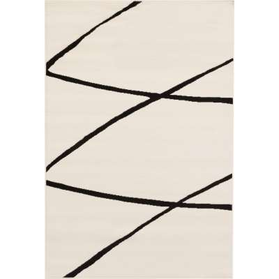 Kilimas Modern Lines Cream & Black Area  135x190cm Kilimai - Dekoria.lt