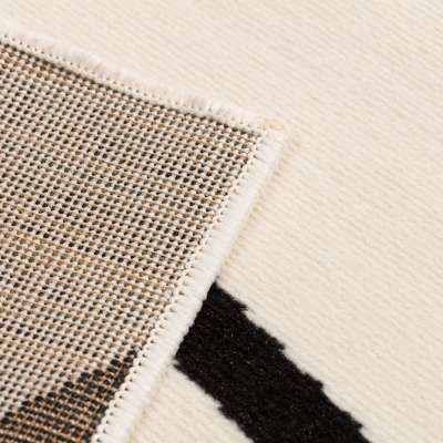 Kilimas Modern Lines Cream & Black Area  135x190cm