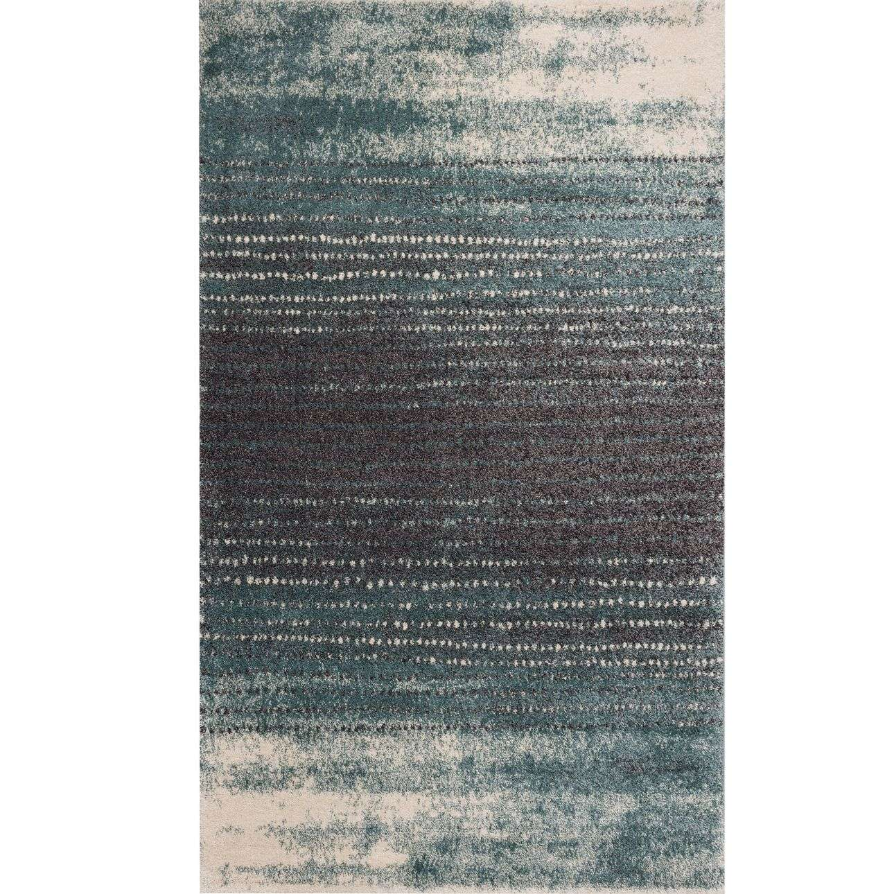 Dywan Modern Teal blue/dark grey 160x230cm