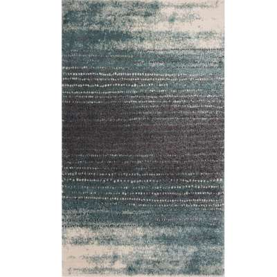 Teppich Modern Teal blue-dark grey 160x230cm
