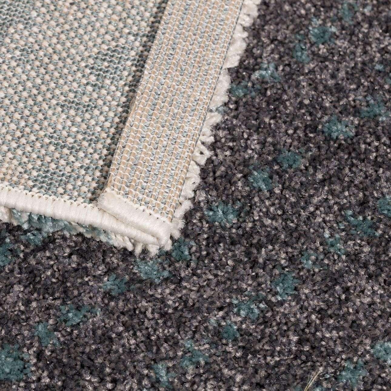 Dywan Modern Teal blue/dark grey 160x230cm  160x230cm