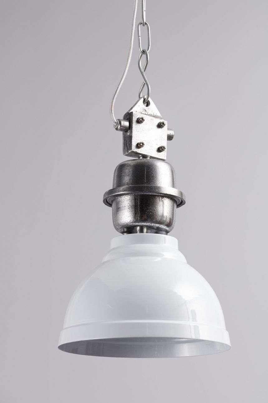 Dekoria Lampa wisząca Clinton śr. 22cm white