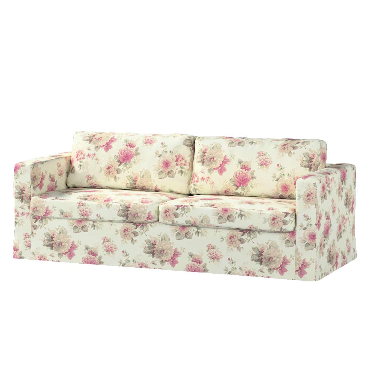 Karlstad 3-Sitzer Sofabezug nicht ausklappbar lang Sofahusse, Karlstad 3-Sitzer von der Kollektion Mirella, Stoff: 141-07