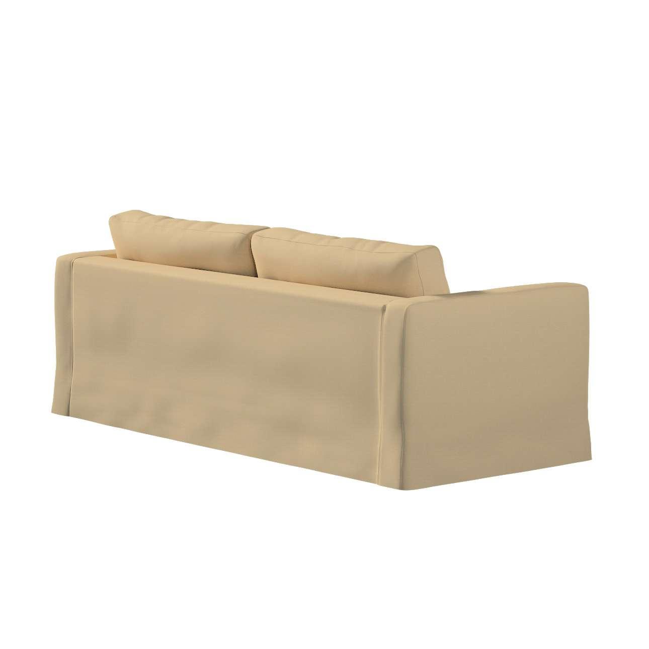 Karlstad 3-Sitzer Sofabezug nicht ausklappbar lang von der Kollektion Cotton Panama, Stoff: 702-01