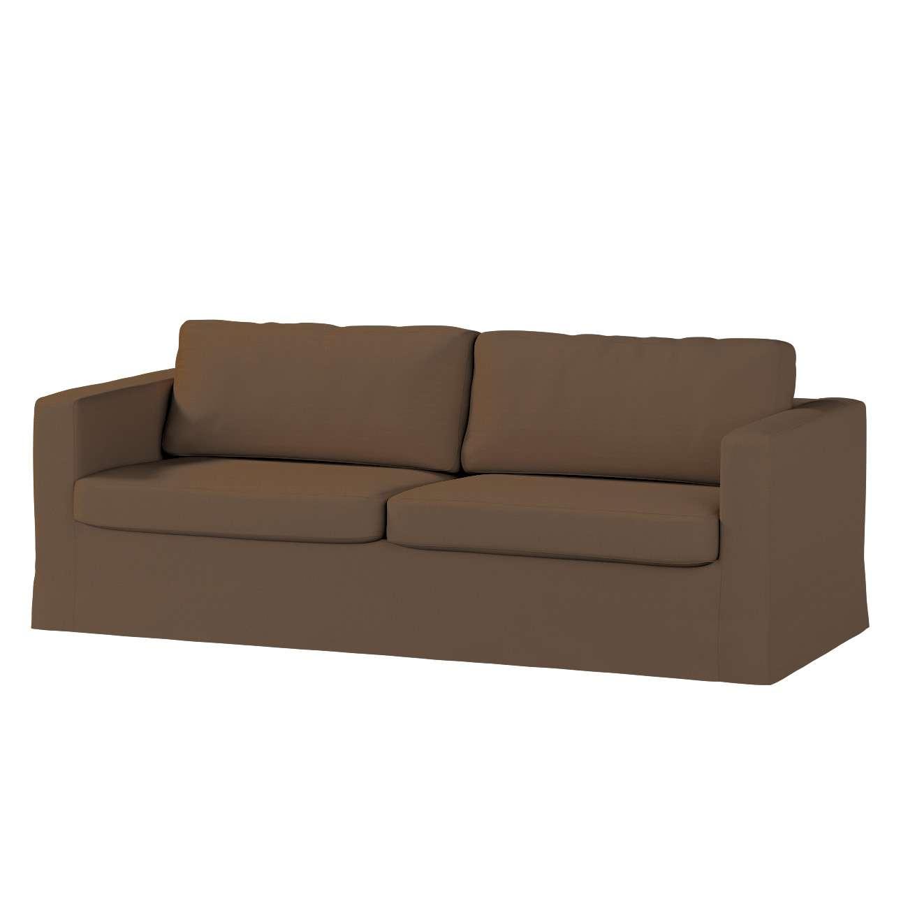 Pokrowiec na sofę Karlstad 3-osobową nierozkładaną, długi Sofa Karlstad 3-osobowa w kolekcji Cotton Panama, tkanina: 702-02