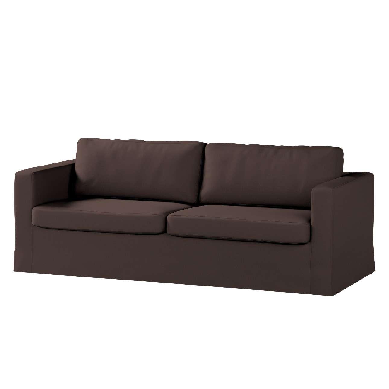 Karlstad trivietės sofos užvalkalas (ilgas, iki žemės) Karlstad trivietės sofos užvalkalas (ilgas, iki žemės) kolekcijoje Cotton Panama, audinys: 702-03
