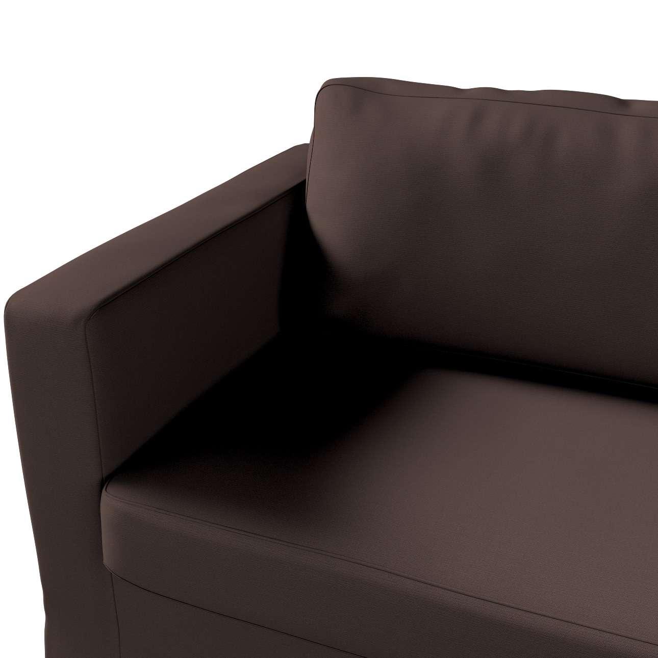 Pokrowiec na sofę Karlstad 3-osobową nierozkładaną, długi w kolekcji Cotton Panama, tkanina: 702-03