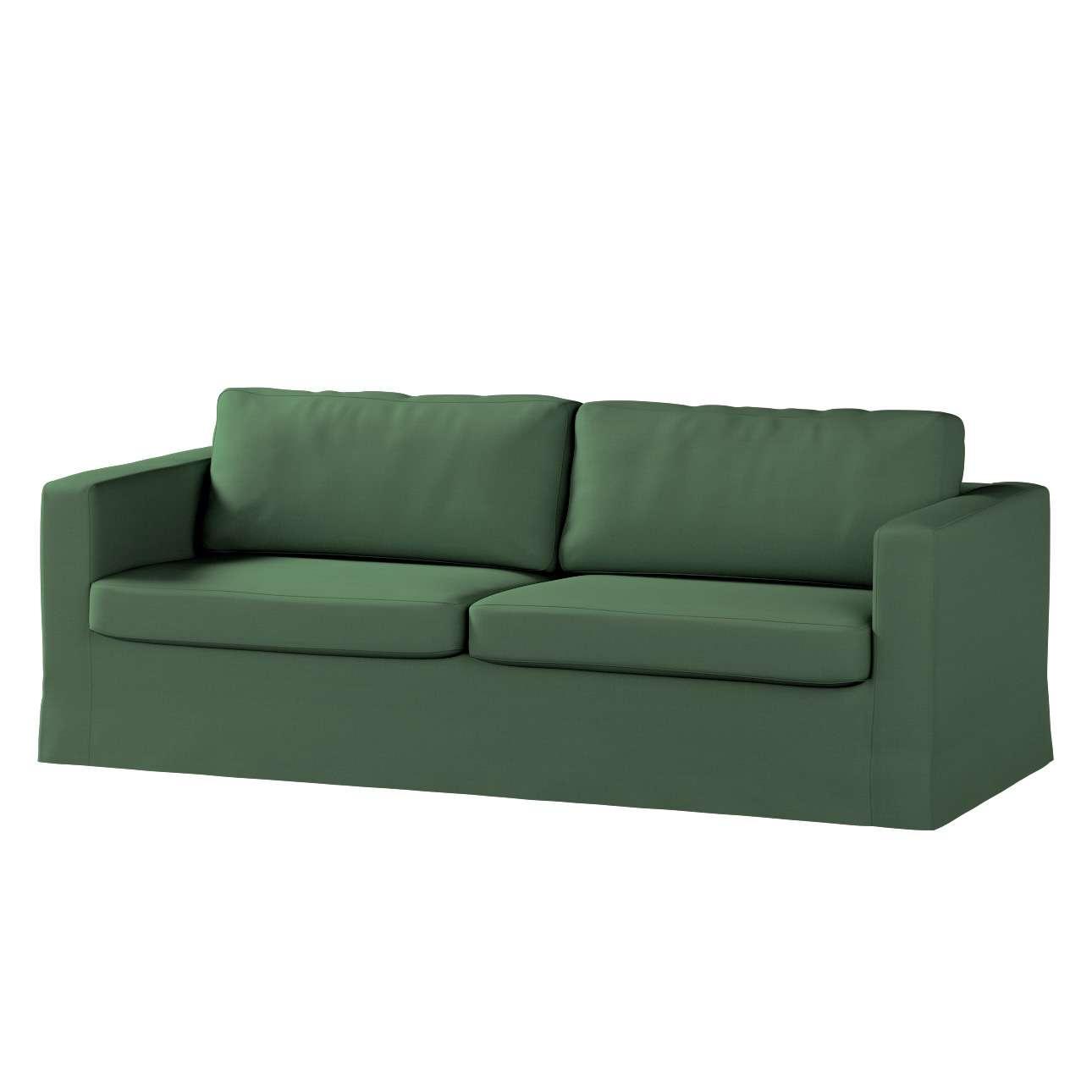 Pokrowiec na sofę Karlstad 3-osobową nierozkładaną, długi Sofa Karlstad 3-osobowa w kolekcji Cotton Panama, tkanina: 702-06