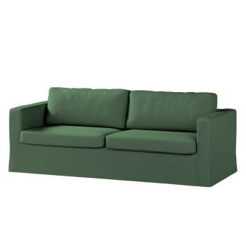 Karlstad 3-Sitzer Sofabezug nicht ausklappbar lang von der Kollektion Cotton Panama, Stoff: 702-06