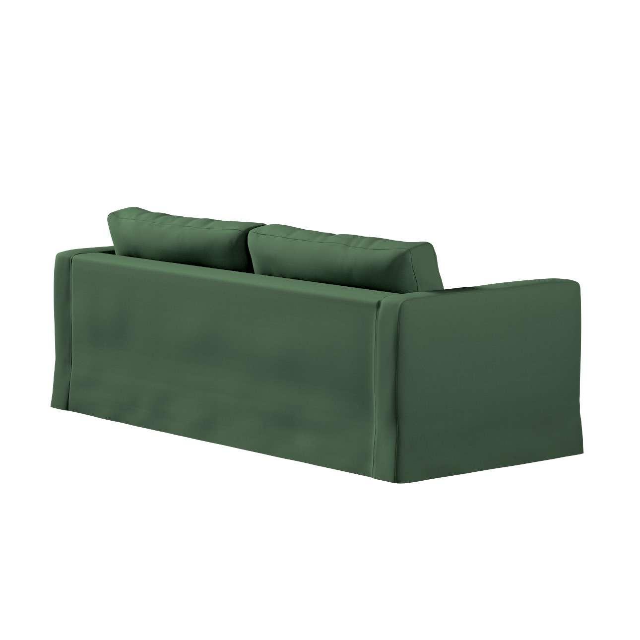 Pokrowiec na sofę Karlstad 3-osobową nierozkładaną, długi w kolekcji Cotton Panama, tkanina: 702-06