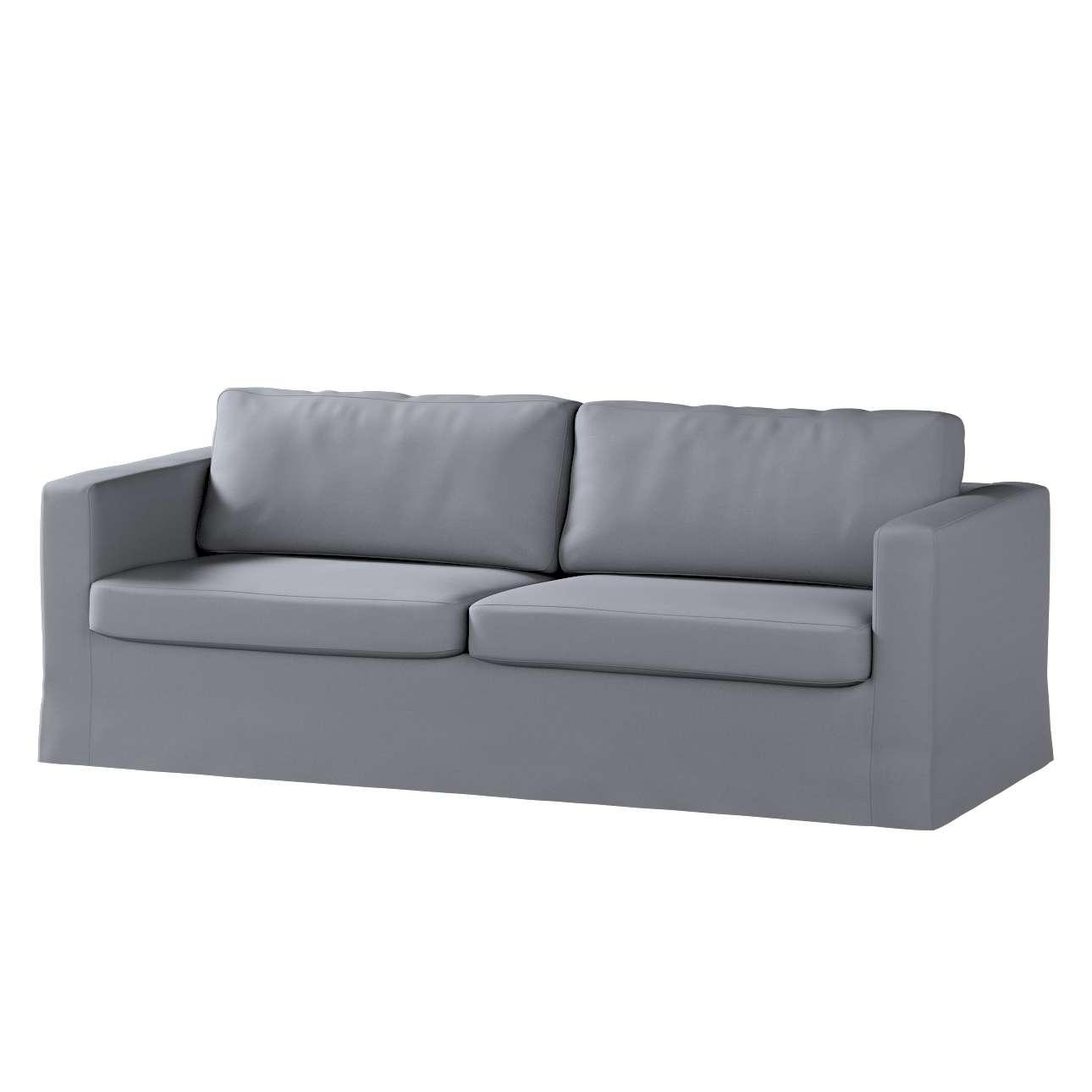Pokrowiec na sofę Karlstad 3-osobową nierozkładaną, długi Sofa Karlstad 3-osobowa w kolekcji Cotton Panama, tkanina: 702-07