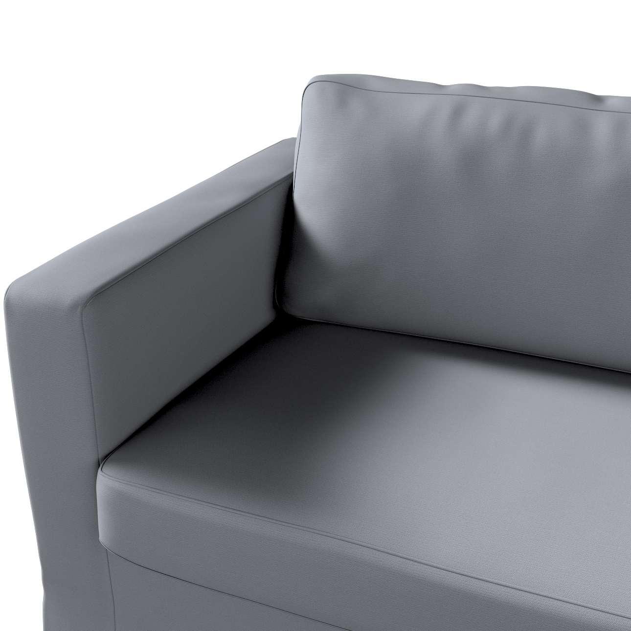 Karlstad 3-Sitzer Sofabezug nicht ausklappbar lang von der Kollektion Cotton Panama, Stoff: 702-07