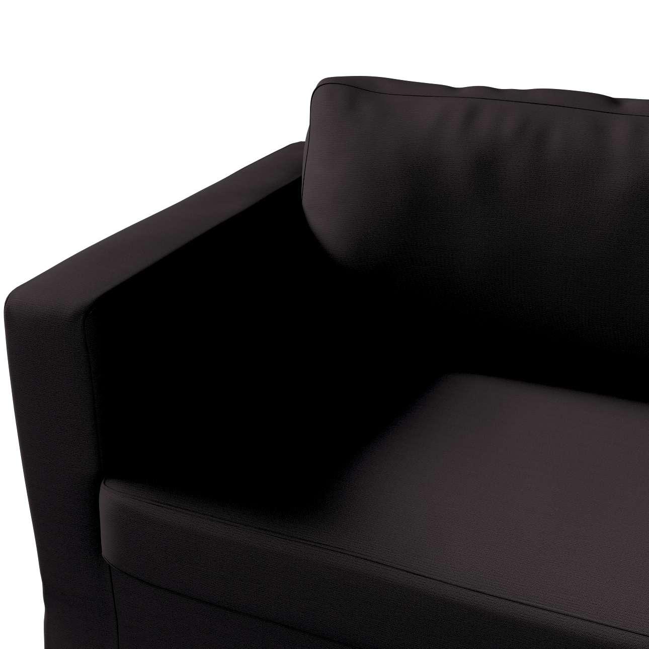 Pokrowiec na sofę Karlstad 3-osobową nierozkładaną, długi w kolekcji Cotton Panama, tkanina: 702-08