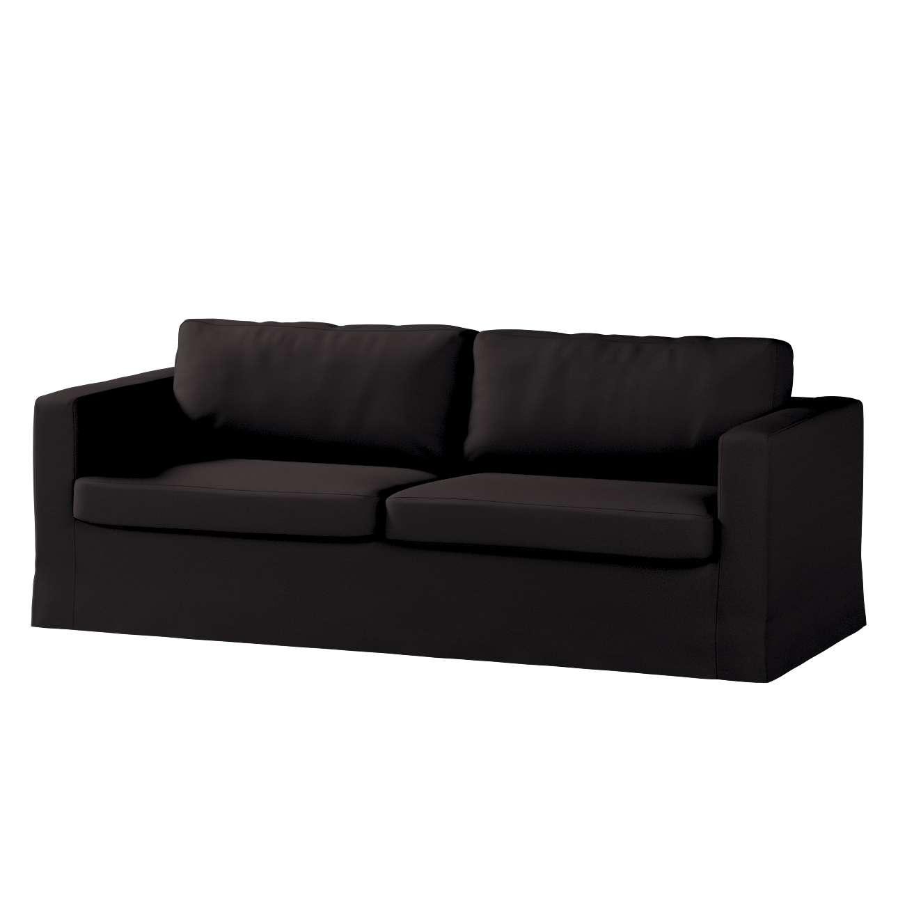 Pokrowiec na sofę Karlstad 3-osobową nierozkładaną, długi Sofa Karlstad 3-osobowa w kolekcji Cotton Panama, tkanina: 702-09