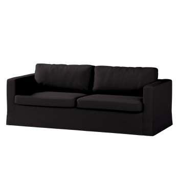 Karlstad 3-Sitzer Sofabezug nicht ausklappbar lang von der Kollektion Cotton Panama, Stoff: 702-09