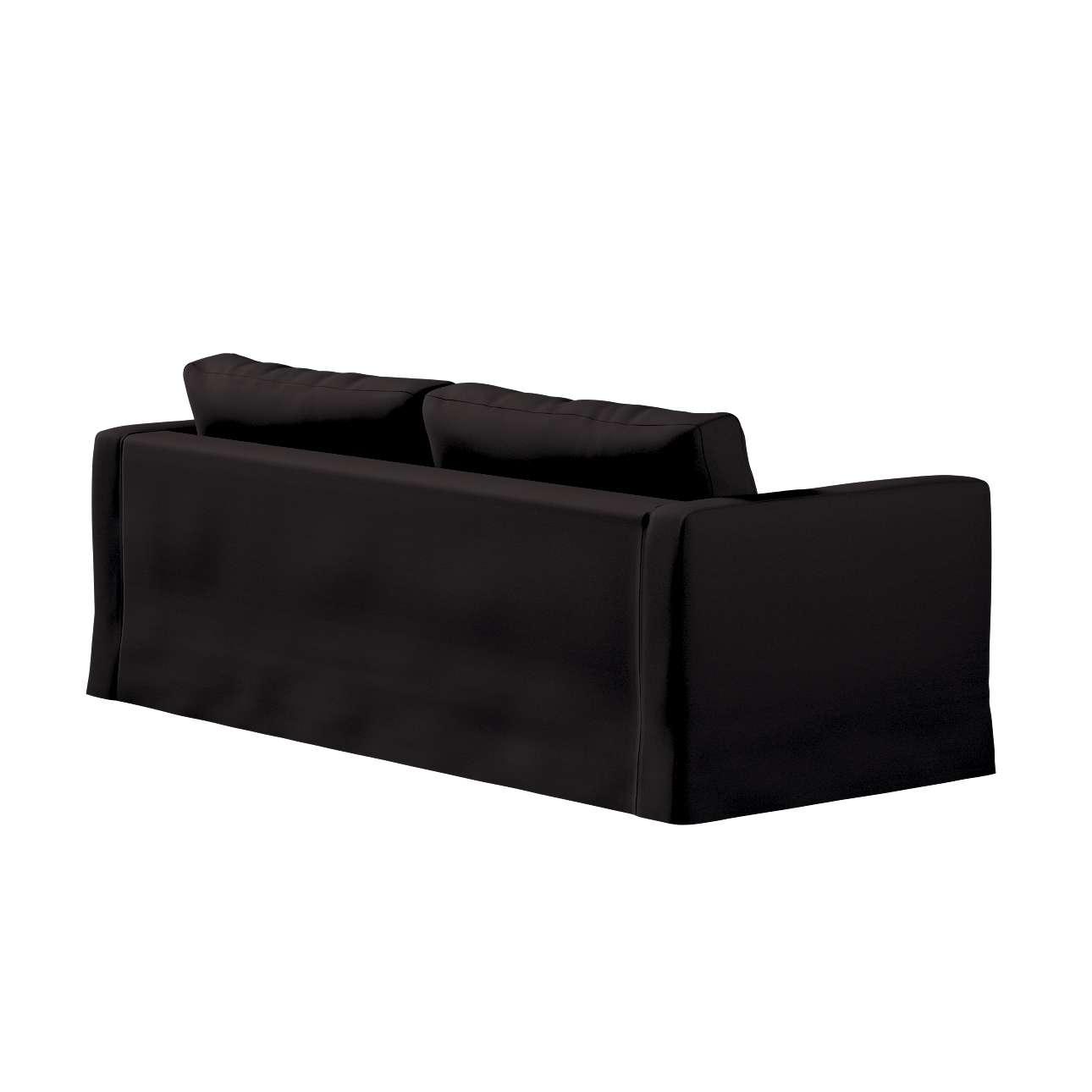 Pokrowiec na sofę Karlstad 3-osobową nierozkładaną, długi w kolekcji Cotton Panama, tkanina: 702-09