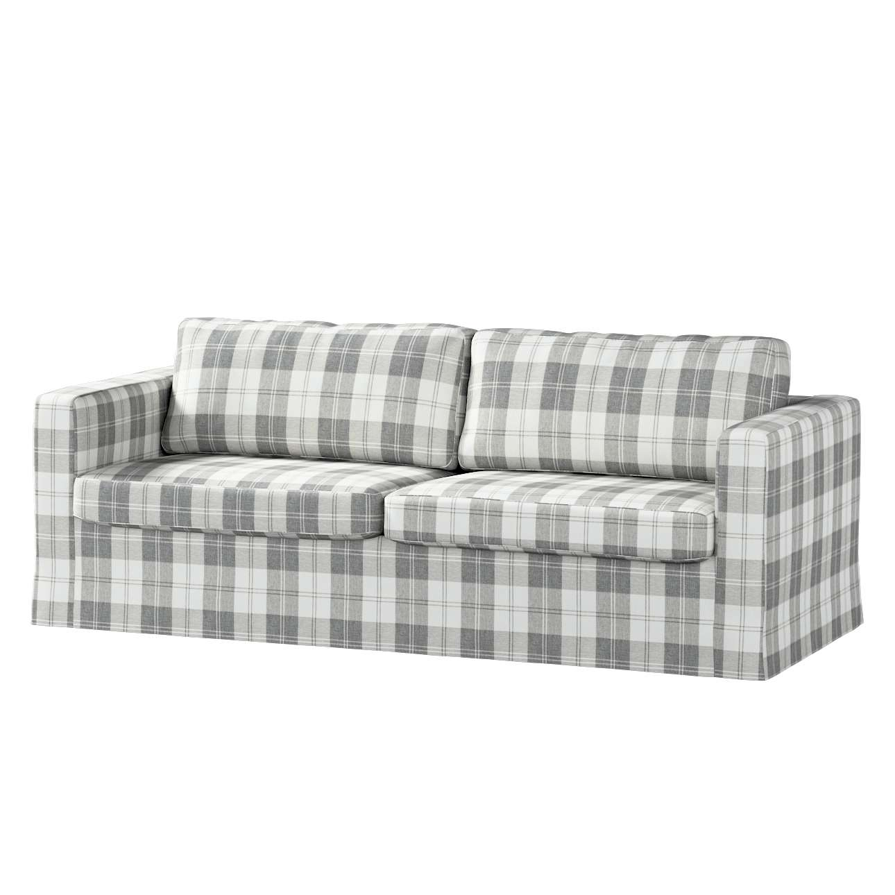 Floor length Karlstad 3-seater sofa cover in collection Edinburgh, fabric: 115-79