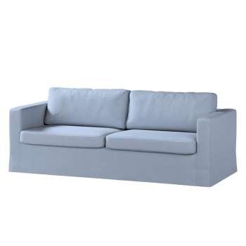 Pokrowiec na sofę Karlstad 3-osobową nierozkładaną, długi Sofa Karlstad 3-osobowa w kolekcji Chenille, tkanina: 702-13