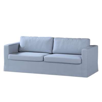 Pokrowiec na sofę Karlstad 3-osobową nierozkładaną, długi w kolekcji Chenille, tkanina: 702-13