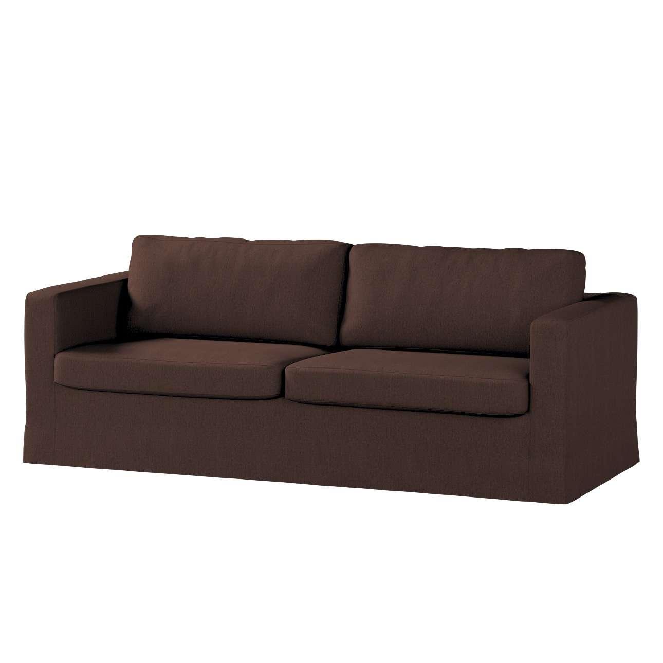 Pokrowiec na sofę Karlstad 3-osobową nierozkładaną, długi Sofa Karlstad 3-osobowa w kolekcji Chenille, tkanina: 702-18