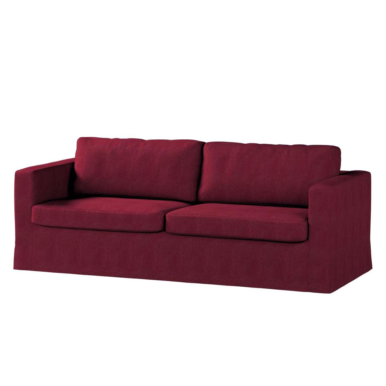 Poťah na sedačku Karlstad (nerozkladá sa, pre 3 osoby, dlhá) V kolekcii Chenille, tkanina: 702-19