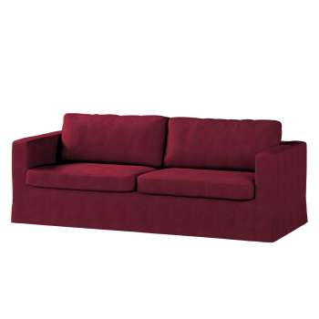 Floor length Karlstad 3-seater sofa cover in collection Chenille, fabric: 702-19