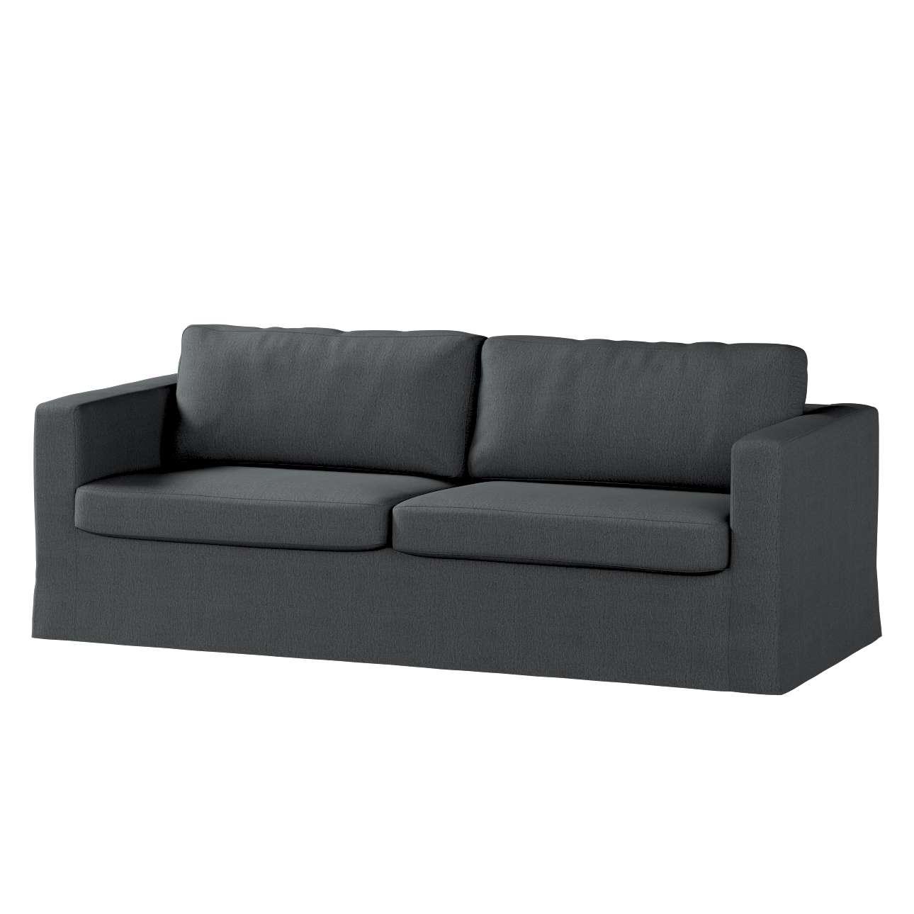 Potah na pohovku IKEA  Karlstad 3-místná, nerozkládací, dlouhý v kolekci Chenille, látka: 702-20