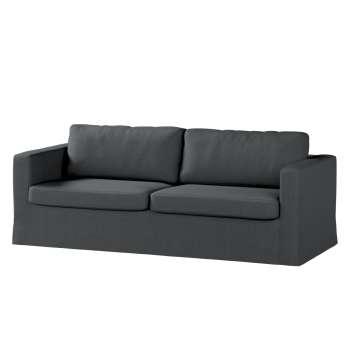 Pokrowiec na sofę Karlstad 3-osobową nierozkładaną, długi Sofa Karlstad 3-osobowa w kolekcji Chenille, tkanina: 702-20