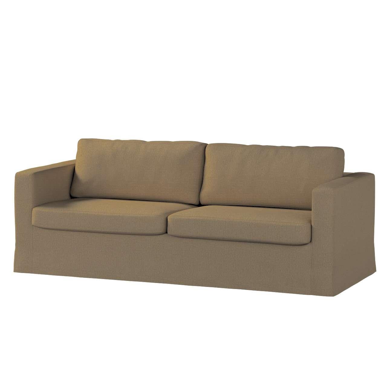 Pokrowiec na sofę Karlstad 3-osobową nierozkładaną, długi Sofa Karlstad 3-osobowa w kolekcji Chenille, tkanina: 702-21