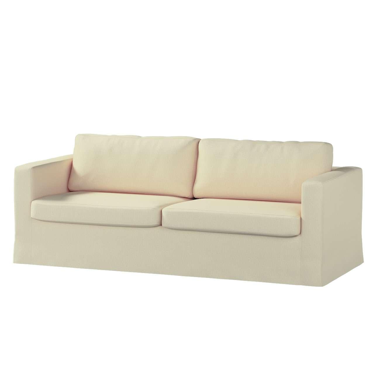 Pokrowiec na sofę Karlstad 3-osobową nierozkładaną, długi Sofa Karlstad 3-osobowa w kolekcji Chenille, tkanina: 702-22