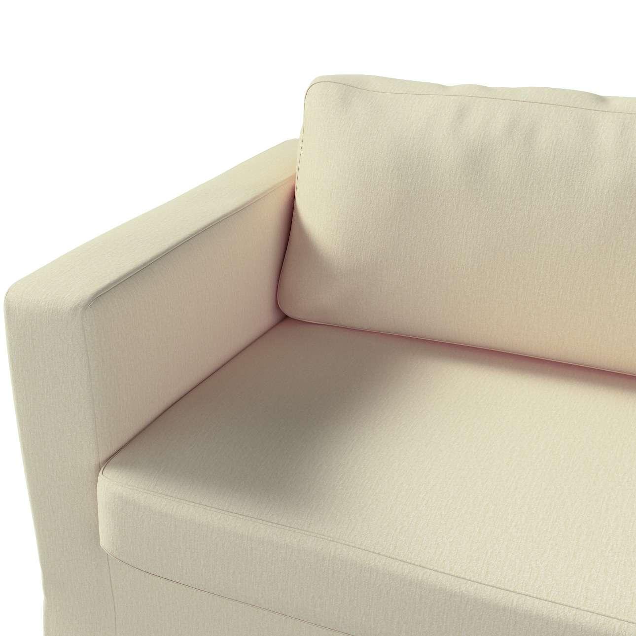 Pokrowiec na sofę Karlstad 3-osobową nierozkładaną, długi w kolekcji Chenille, tkanina: 702-22