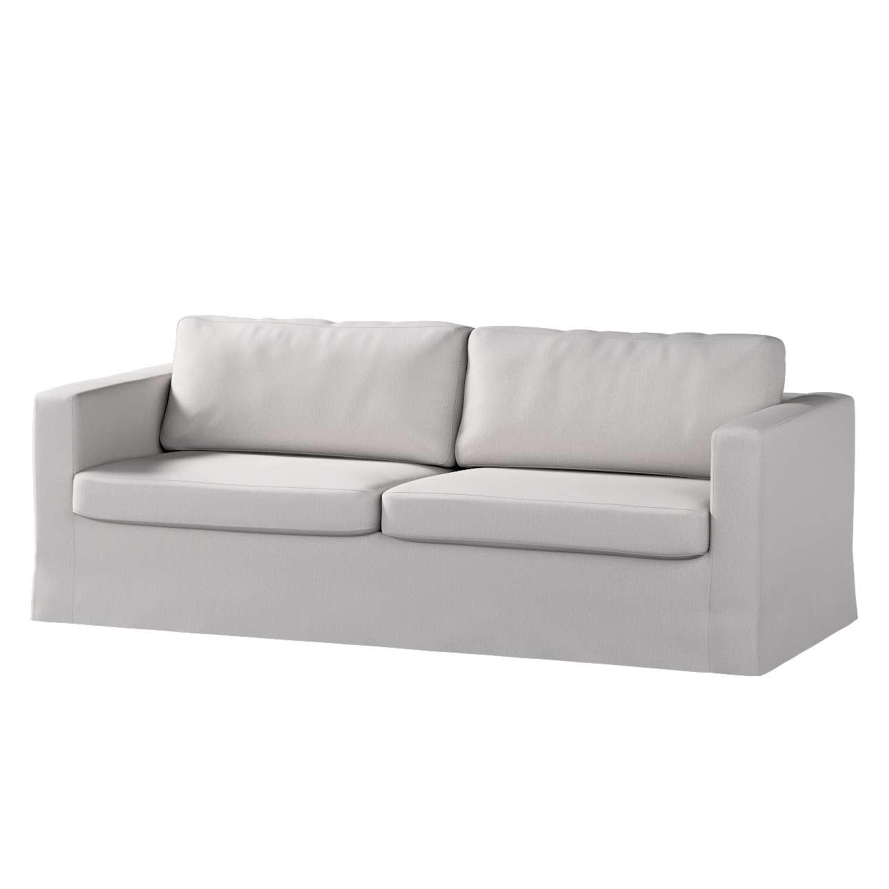 Pokrowiec na sofę Karlstad 3-osobową nierozkładaną, długi Sofa Karlstad 3-osobowa w kolekcji Chenille, tkanina: 702-23