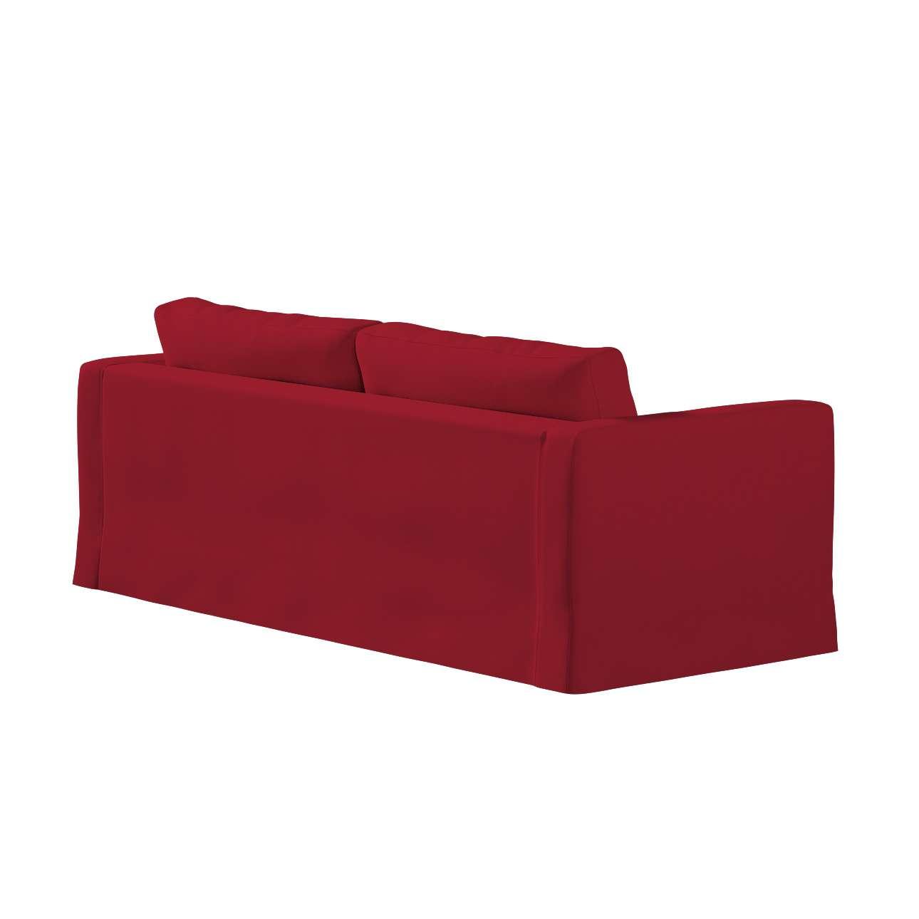 Pokrowiec na sofę Karlstad 3-osobową nierozkładaną, długi w kolekcji Chenille, tkanina: 702-24