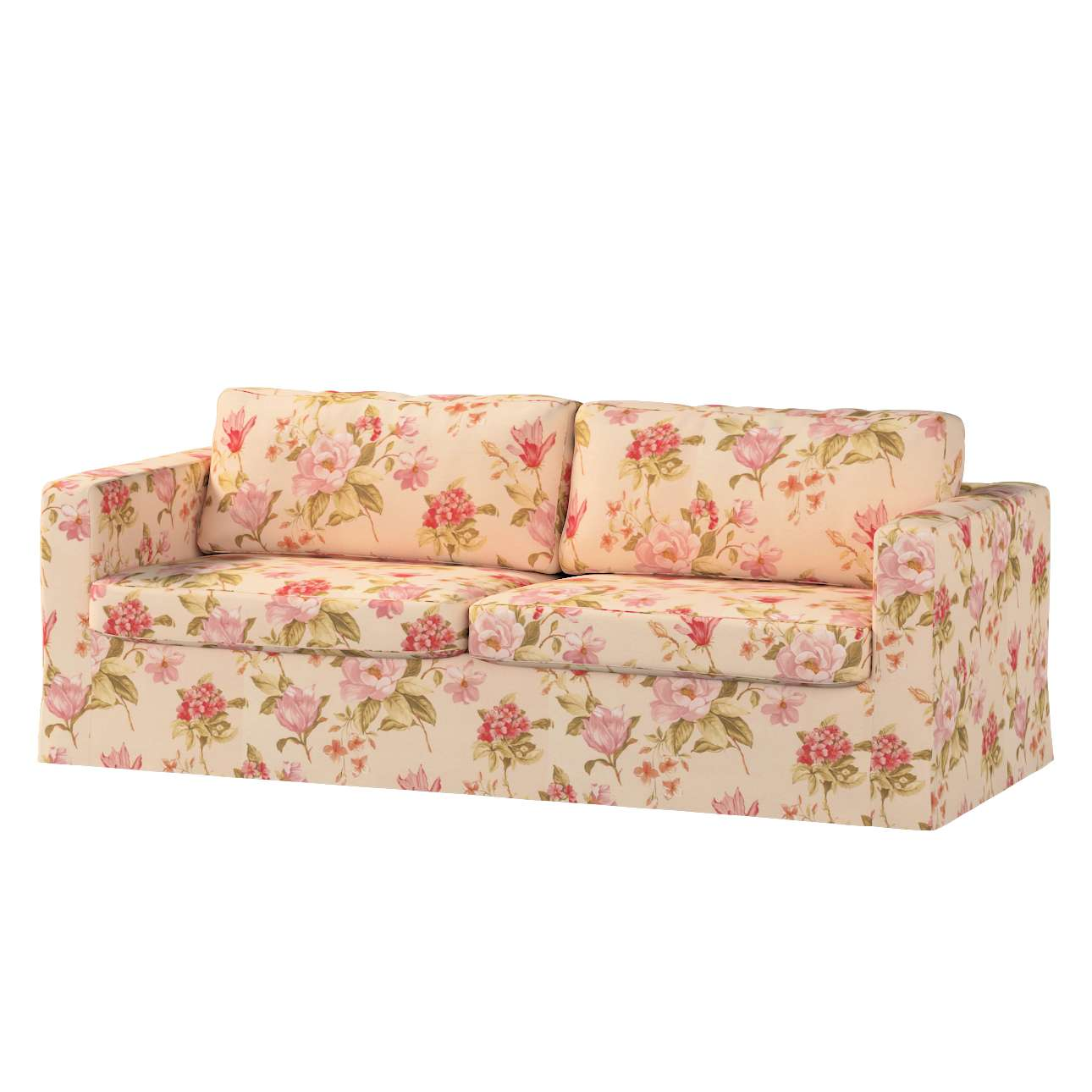 Pokrowiec na sofę Karlstad 3-osobową nierozkładaną, długi Sofa Karlstad 3-osobowa w kolekcji Londres, tkanina: 123-05