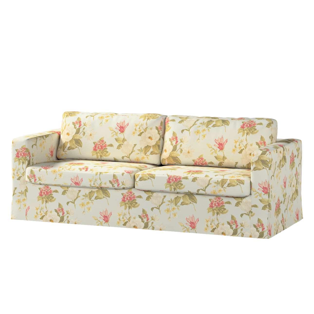 Karlstad 3-Sitzer Sofabezug nicht ausklappbar lang Sofahusse, Karlstad 3-Sitzer von der Kollektion Londres, Stoff: 123-65