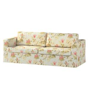 Pokrowiec na sofę Karlstad 3-osobową nierozkładaną, długi Sofa Karlstad 3-osobowa w kolekcji Londres, tkanina: 123-65